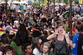 People protesting minimum wage