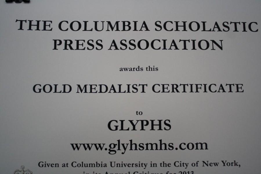 Glyphs Gets Gold