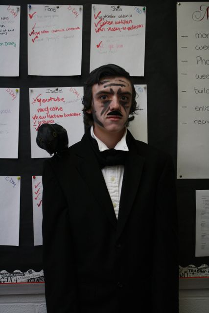 Why did you decide to be Edgar Allen Poe for Halloween?