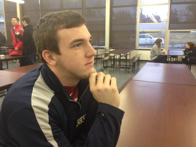 Jake Ducey pondering life.