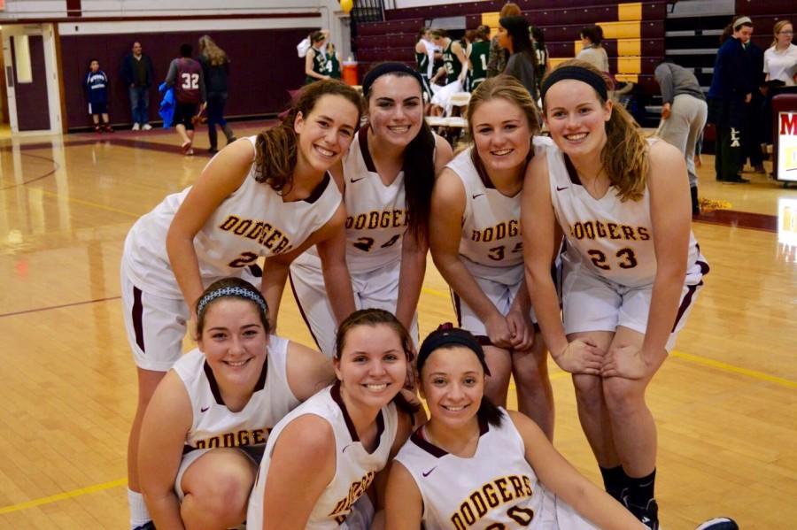 Girls' Varsity Basketball's Seniors.