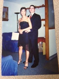 Mr. Braine at a college formal.