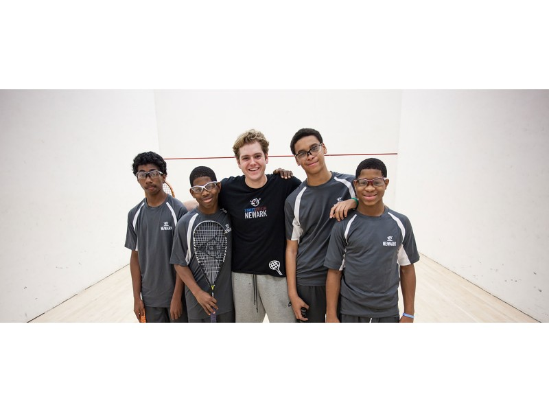 Youths at the Street Squash program.