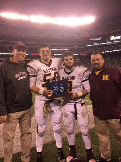How did it feel to hold the state championship trophy next to your father?