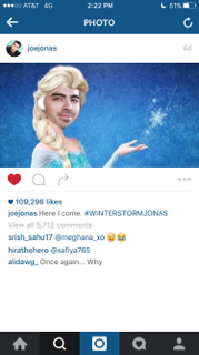 Joe Jonas wishes that he could take the East Coast by storm.