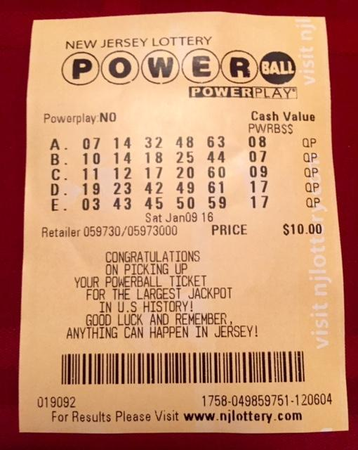 No one one Saturday night's Powerball