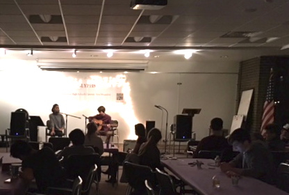 MDO's own Brian and Whitney performing at Glyphs' December Coffee House