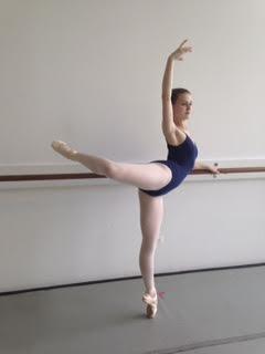 Hallie in the dance studio.