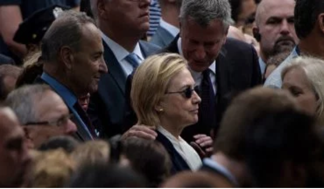 Hillary's early exit at the 9/11 memorial event