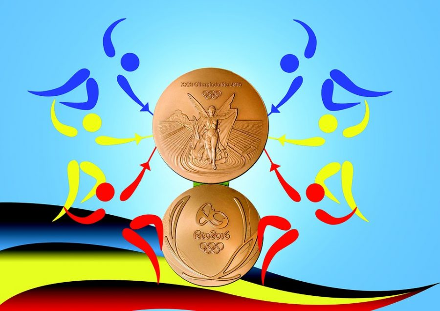 Gold medal from the 2016 Rio Olympics