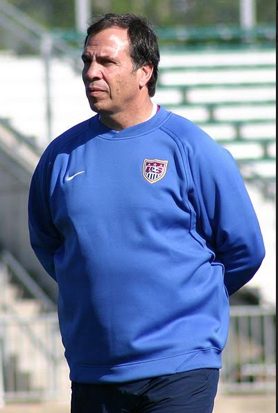USMNT manager, Bruce Arena in 2006