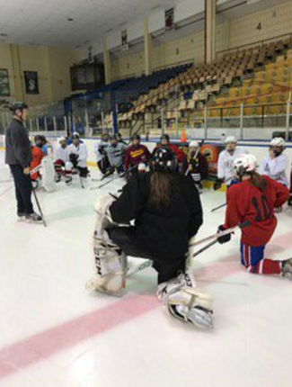 Girls ice hockey practices at 5:30 a.m.