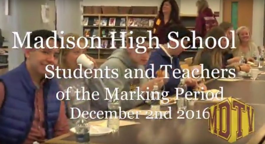 MHS Students of the First Marking Period
