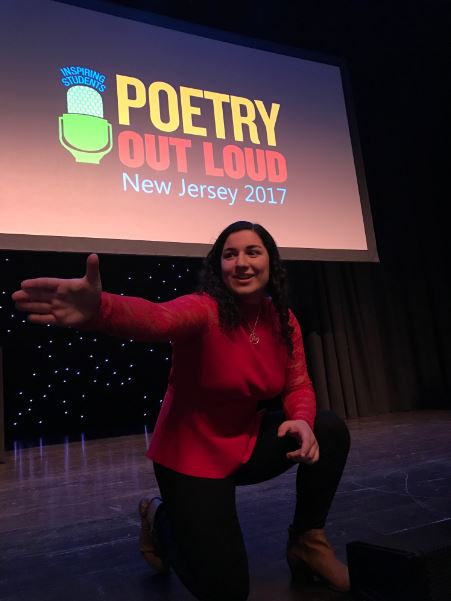 Mitra Sharif wins the regional competition for Poetry Out Loud.
