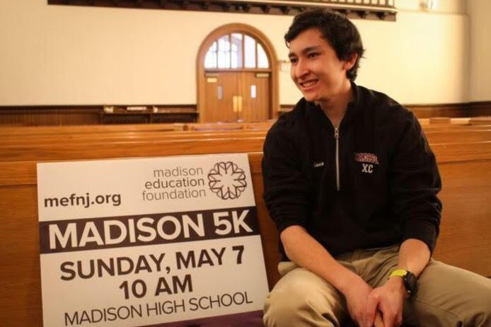 Sawyer Tadano, Madison High School Senior and Varsity Track Athlete gears up for the upcoming MEF Madison 5K and Middlebury College in the fall