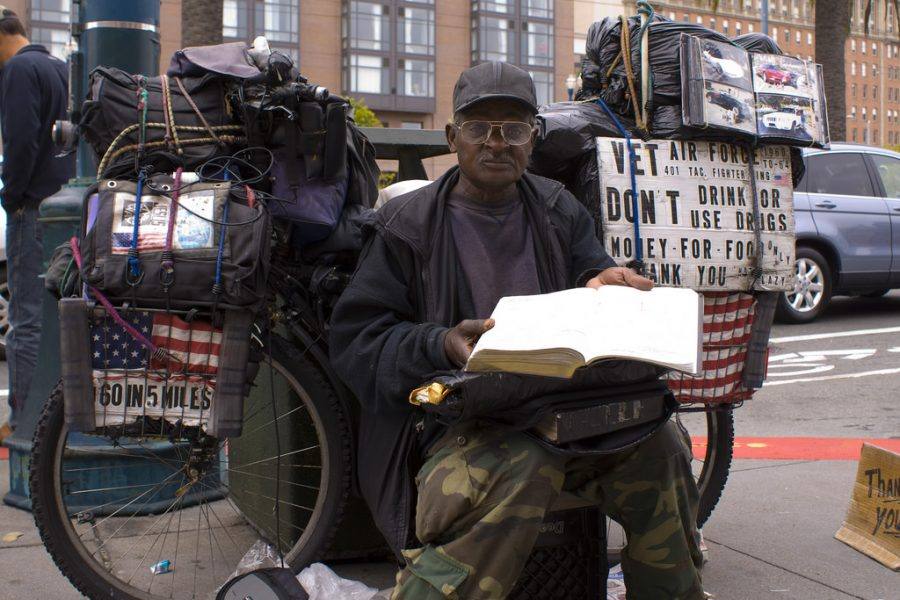 Homeless Air Force veteran.