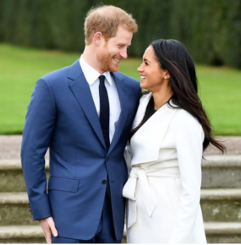 Prince Harry and Meghan Markle flaunt their engagement outside Kensington Palace