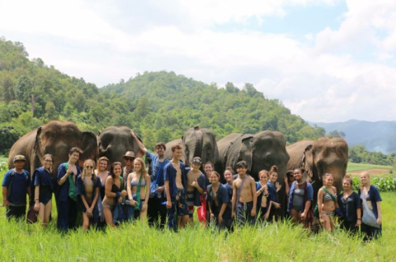Students at GLA on an expedition.