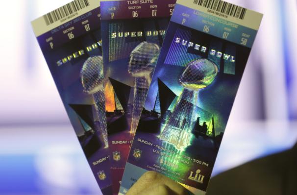 Super Bowl LII tickets.