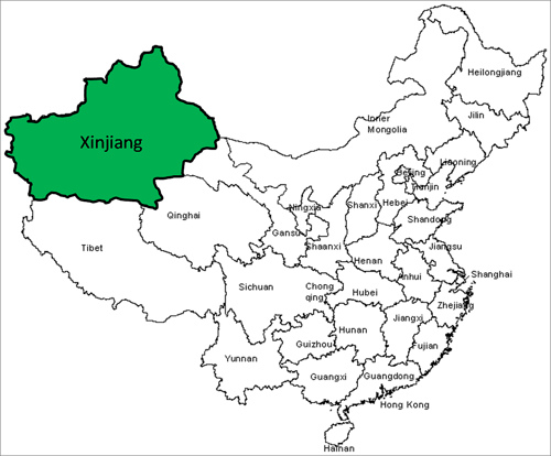 The province of Xinjiang.