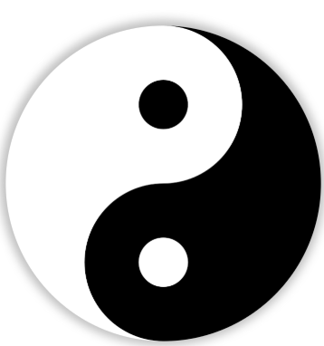 yin yang, an ancient Chinese symbol representing the balance between positivity and negativity